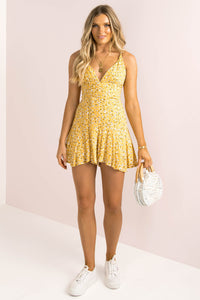 Mandi Playsuit / Yellow