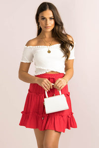 Capri Skirt / Red