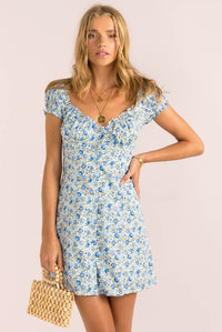 Yasmin Dress / Navy Floral