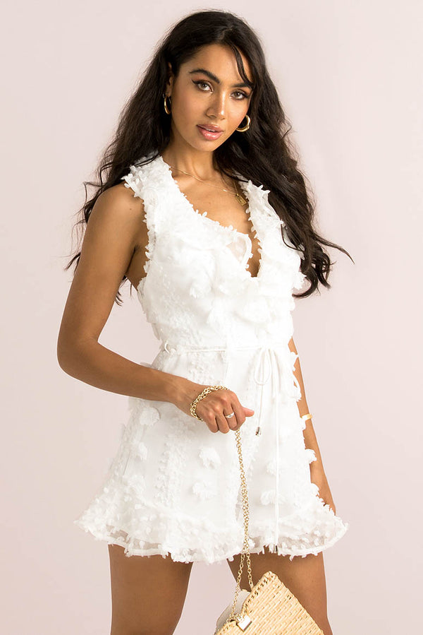Annalisa Playsuit / White