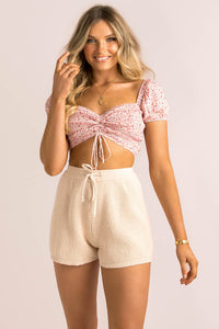 Vicky Top / Blush Floral