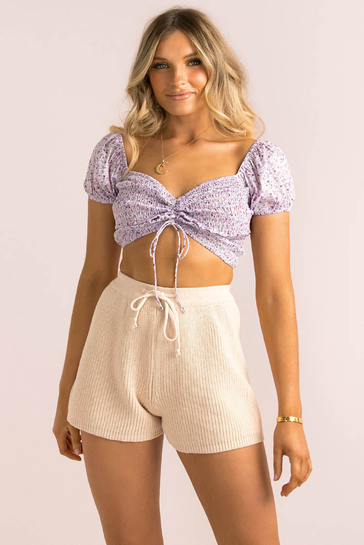 Vicky Top / Lilac Floral