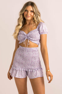Vicky Shorts / Lilac Floral
