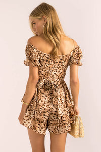 Ruth Playsuit / Leopard