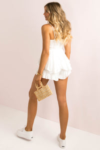 Serena Playsuit / White