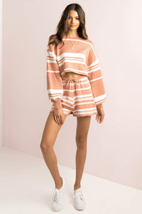 Mimi Shorts / Rose Stripe