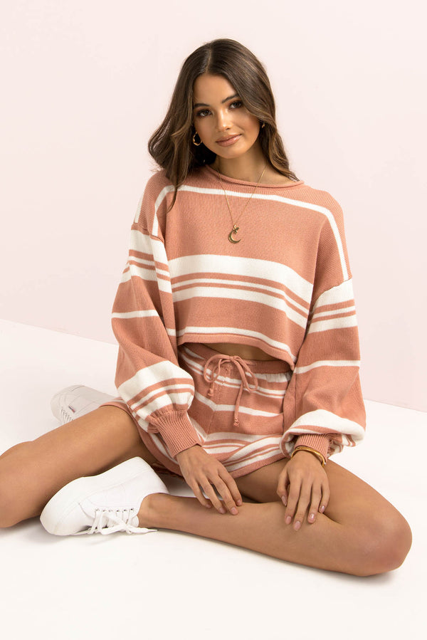 Mimi Top / Rose Stripe