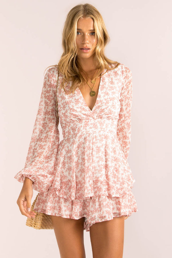 Giselle Playsuit / Blush Floral