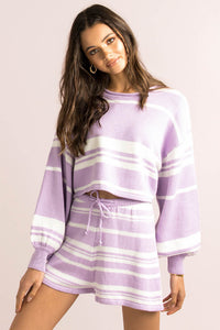 Mimi Top / Lilac Stripe