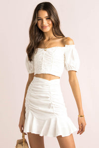 Julie Skirt / White
