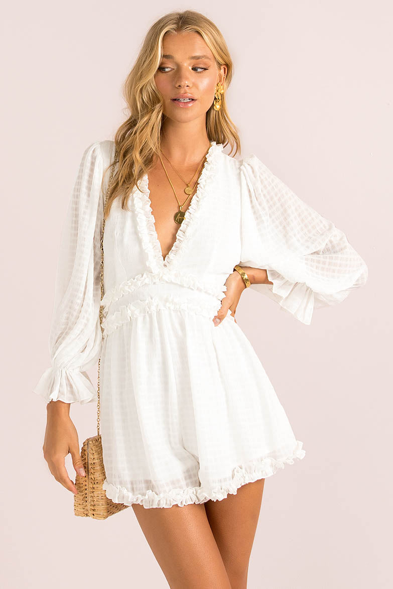 Aurora Playsuit / White