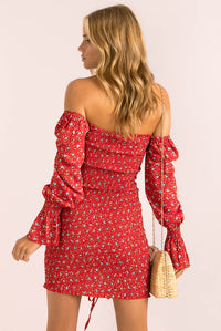 Avalon Dress / Red Floral