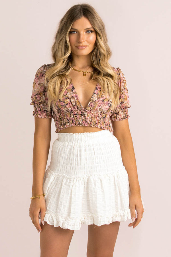 Demi Top / Pink Floral