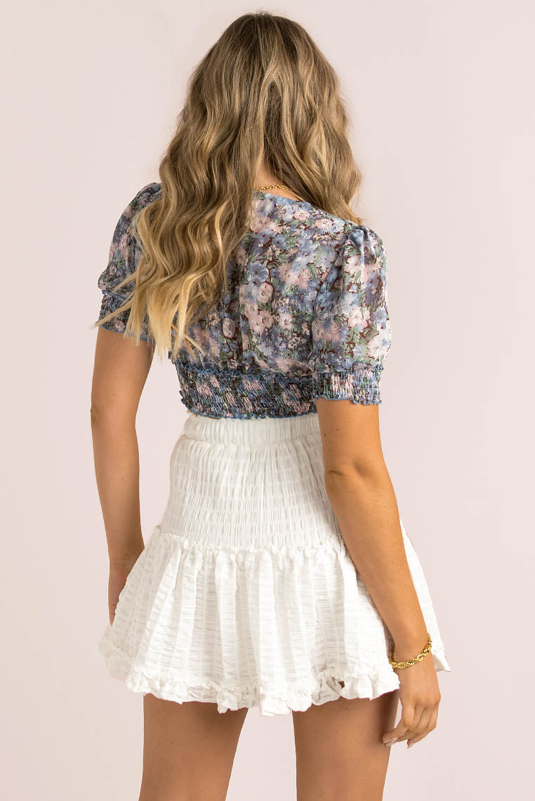 Demi Top / Blue Floral