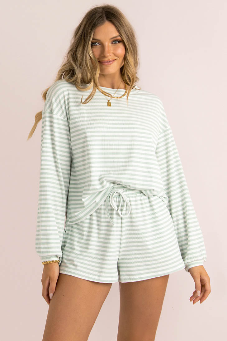 Finn Top / Green Stripe