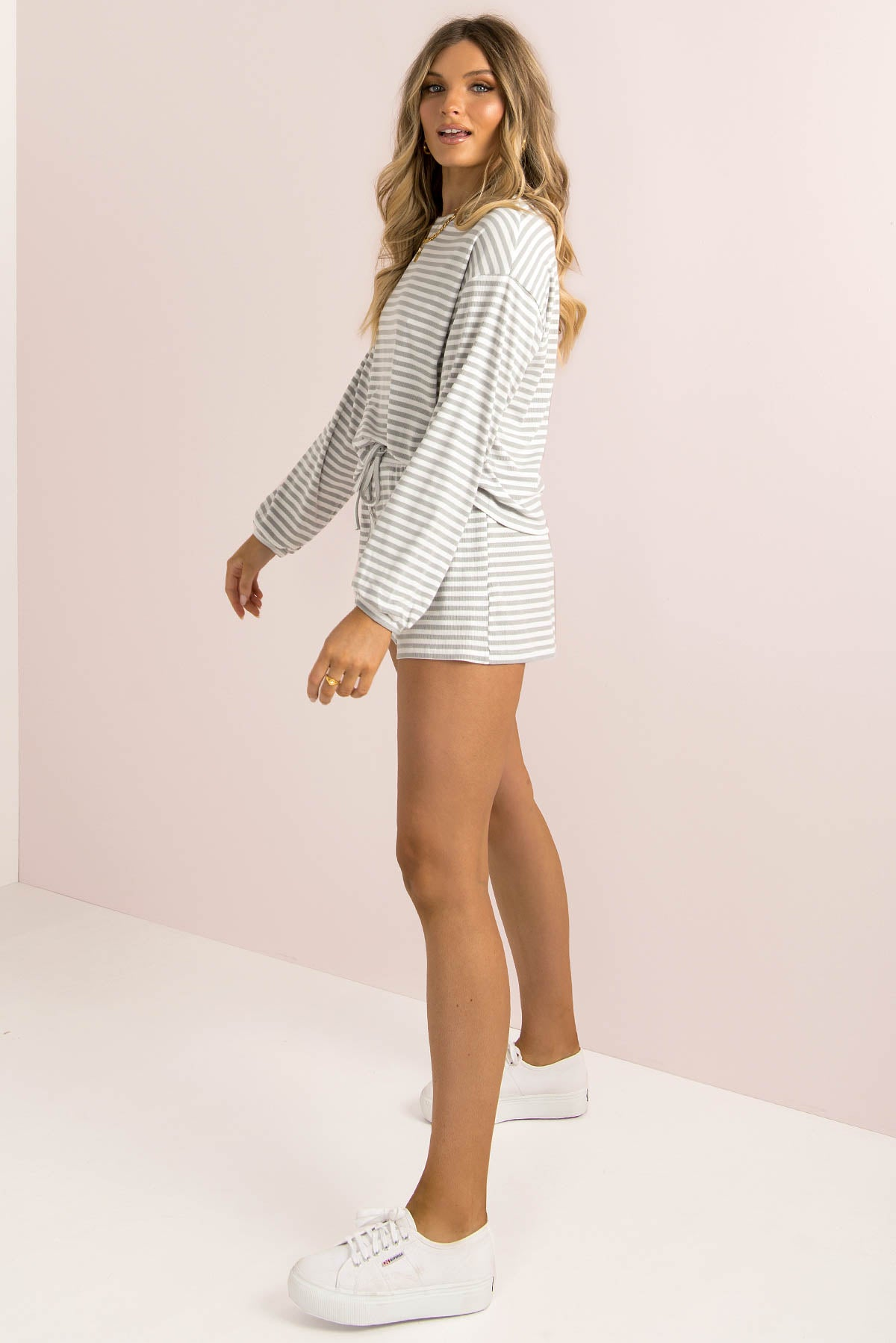 Finn Shorts / Grey Stripe