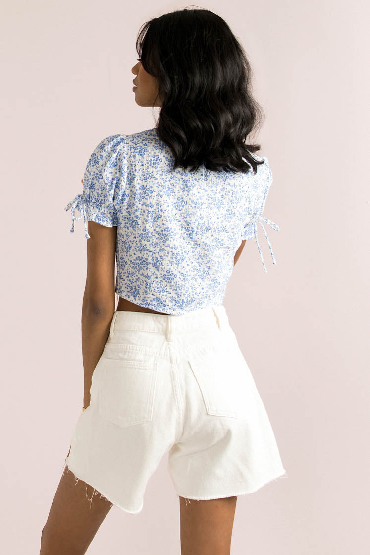 Emory Top / Blue Floral