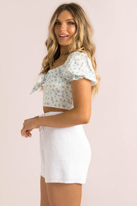 Emilee Top / Blue Floral