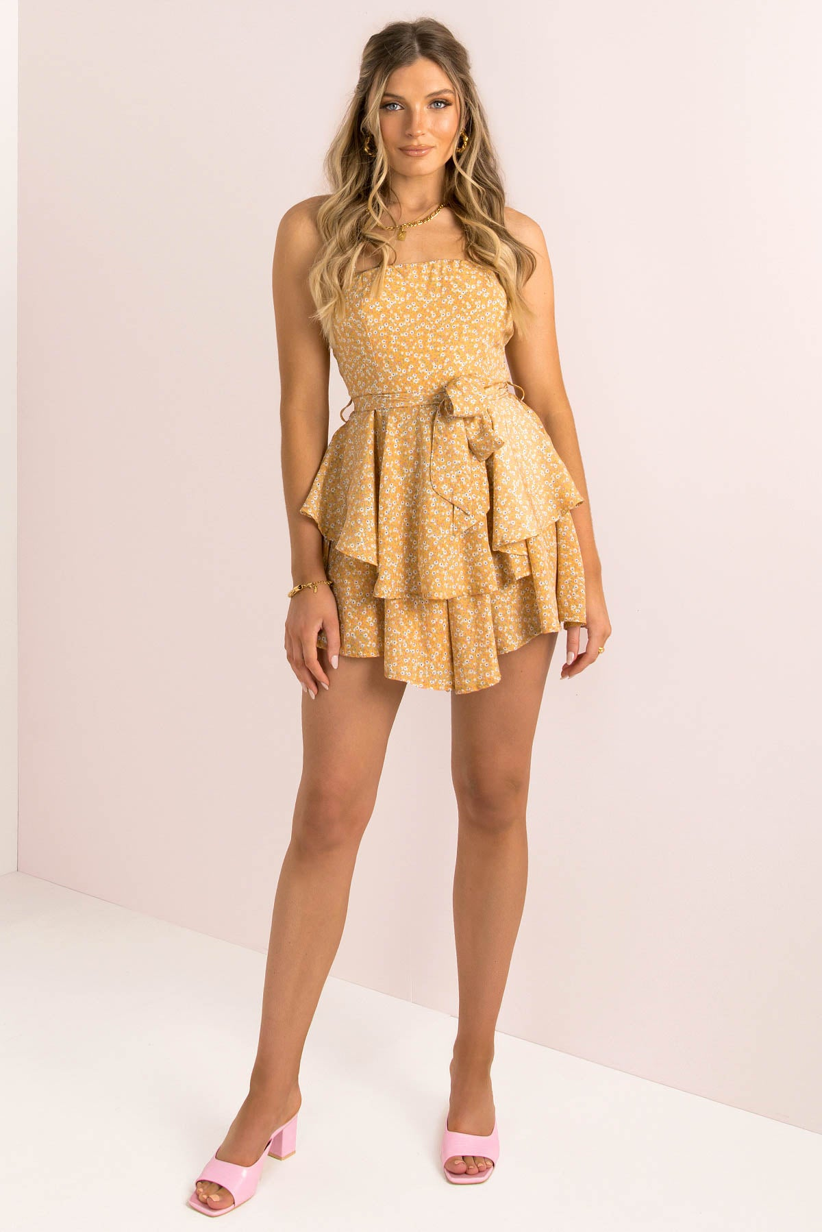 Alila Playsuit / Mustard Floral