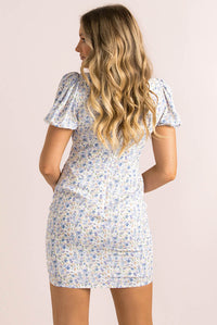 Irene Dress / Blue Floral