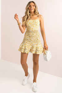 Leon Dress / Yellow Floral