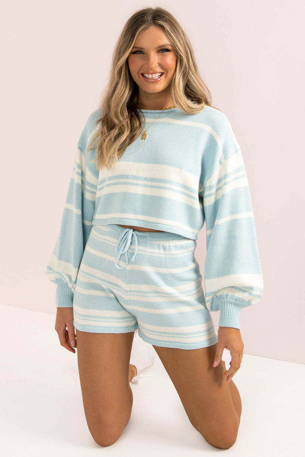Mimi Shorts / Blue Stripe
