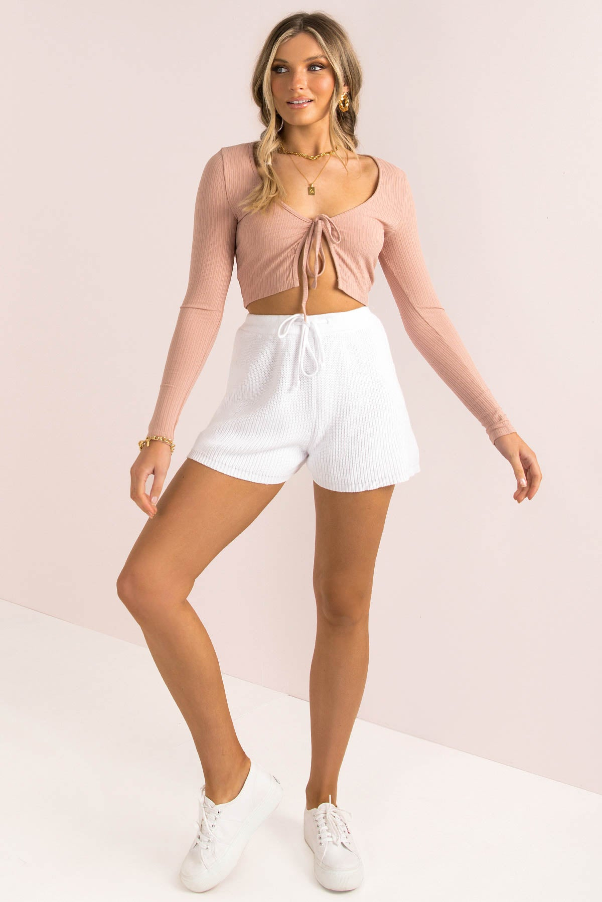 Evelina Top / Dusty Pink