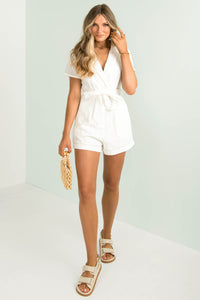 Amelie Playsuit / White