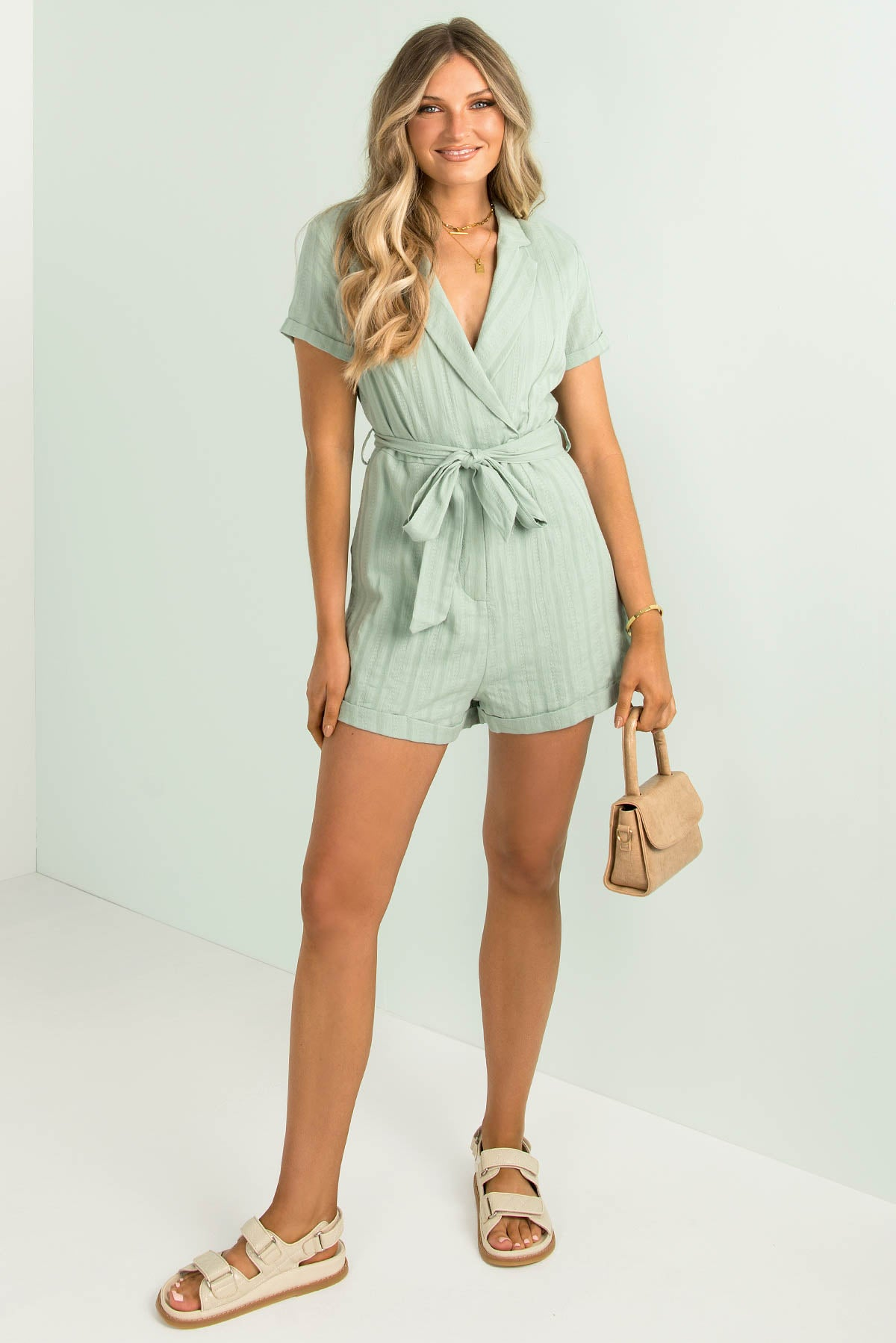 Amelie Playsuit / Sage