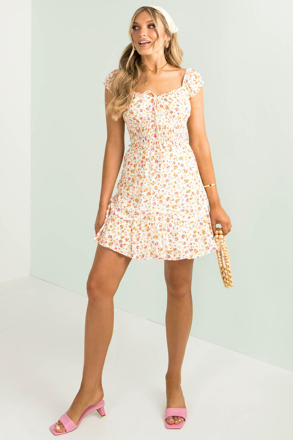 Andy Dress / White Floral