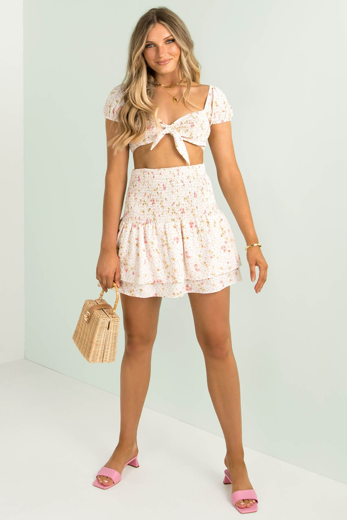 Izzy Top / White Floral