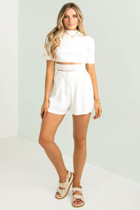 Skylar Shorts / White