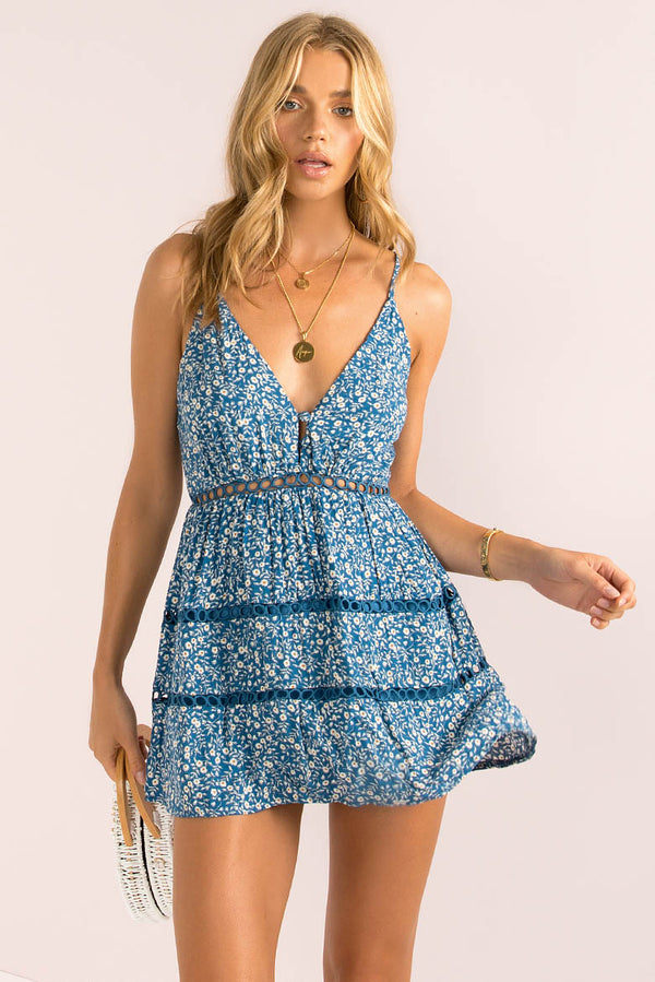 Jamie Dress / Navy Floral