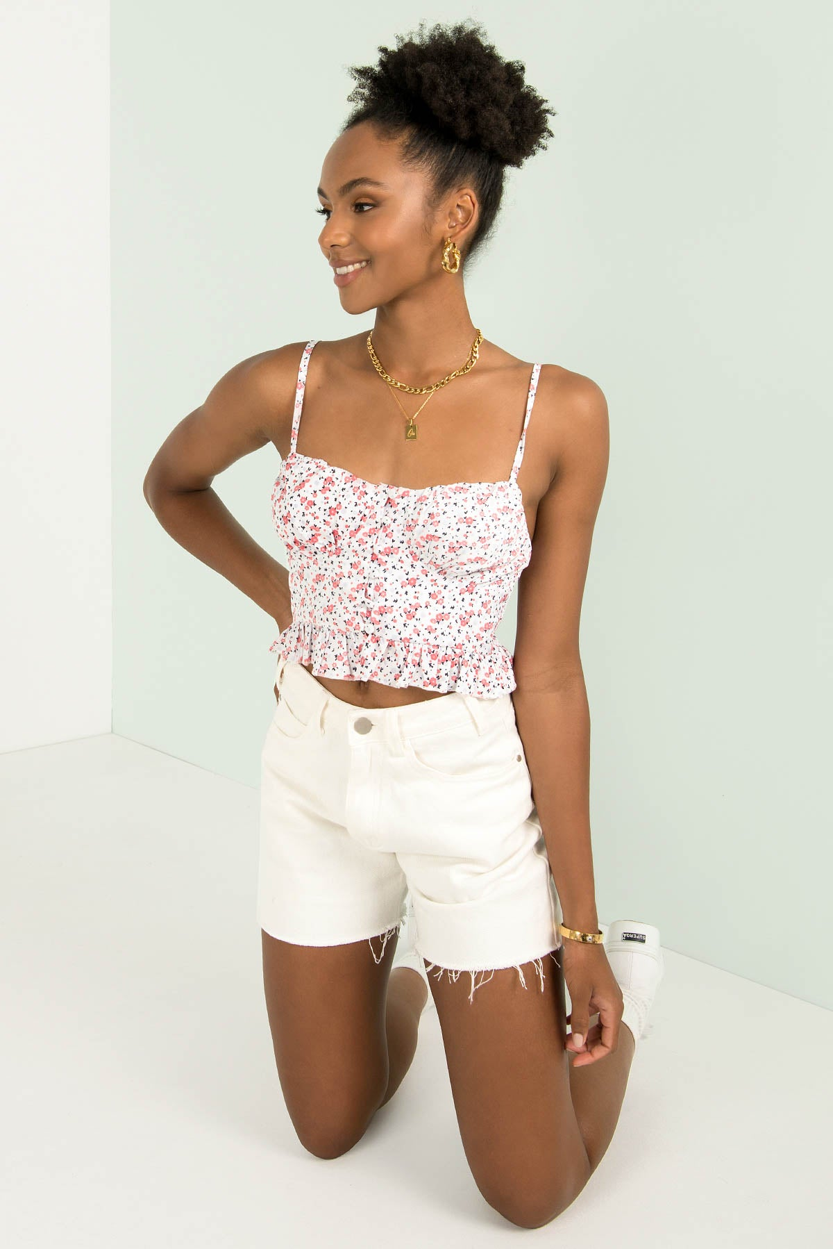 Lexi Top / White Floral