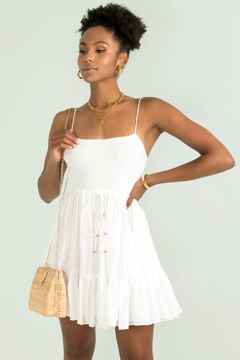 Constance Dress / White