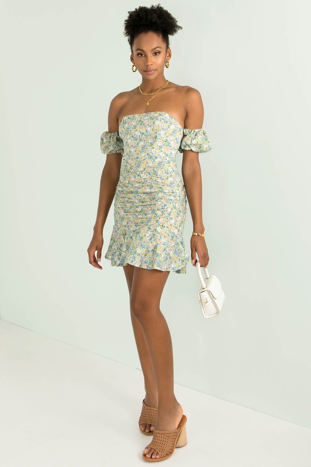 Harriet Dress / Green Floral