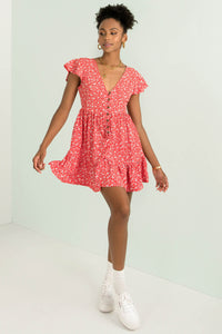 Tessa Dress / Red Floral