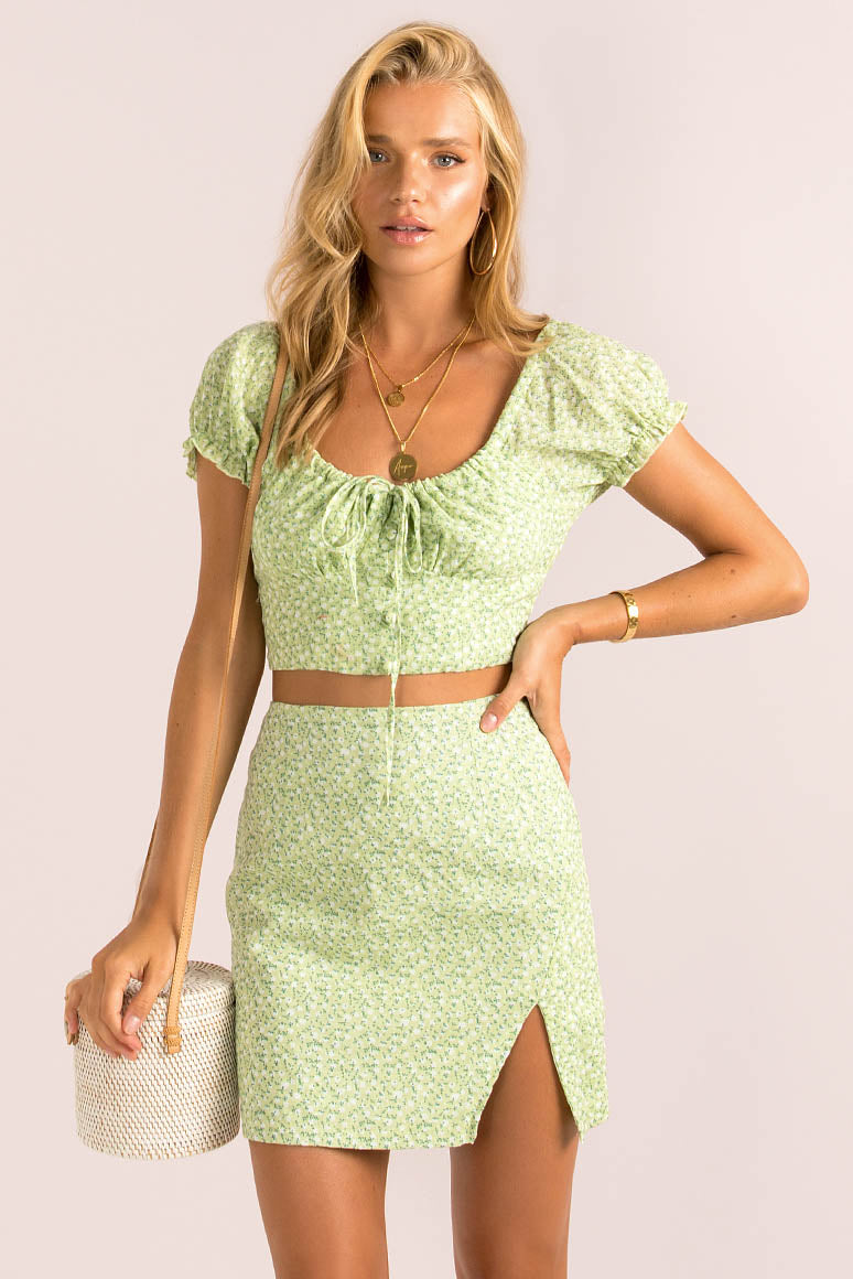 Renee Skirt / Lime