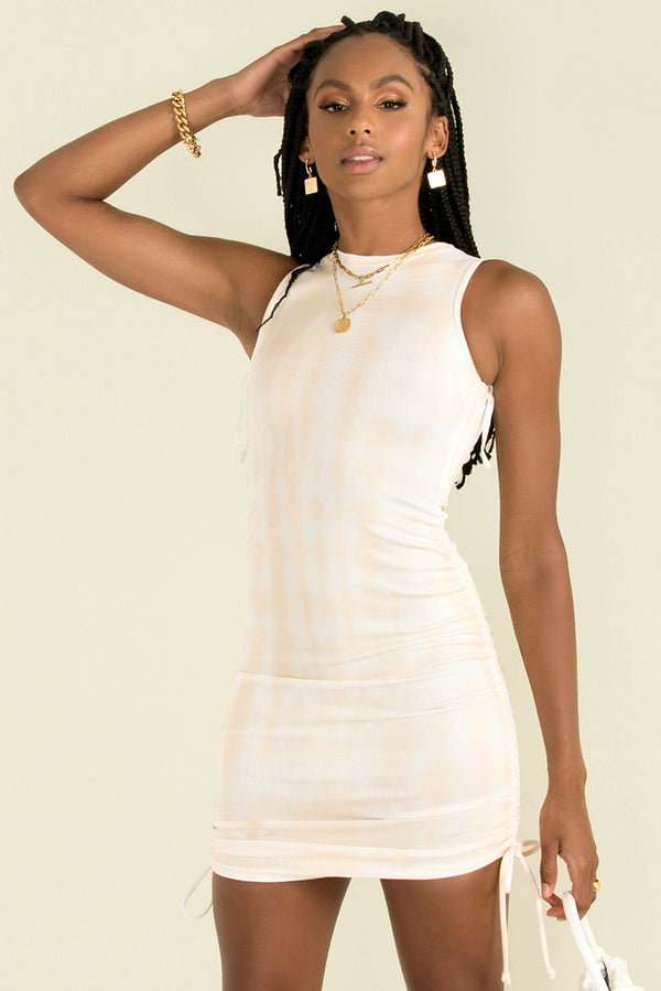 Military Minds Mini Dress / Ecru