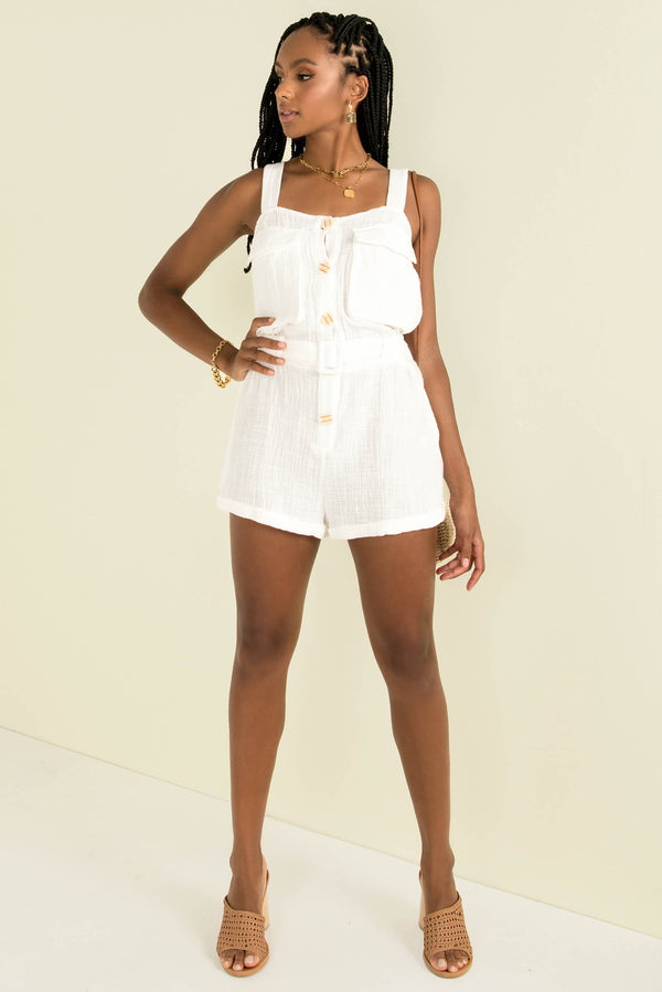 Norah Playsuit / White