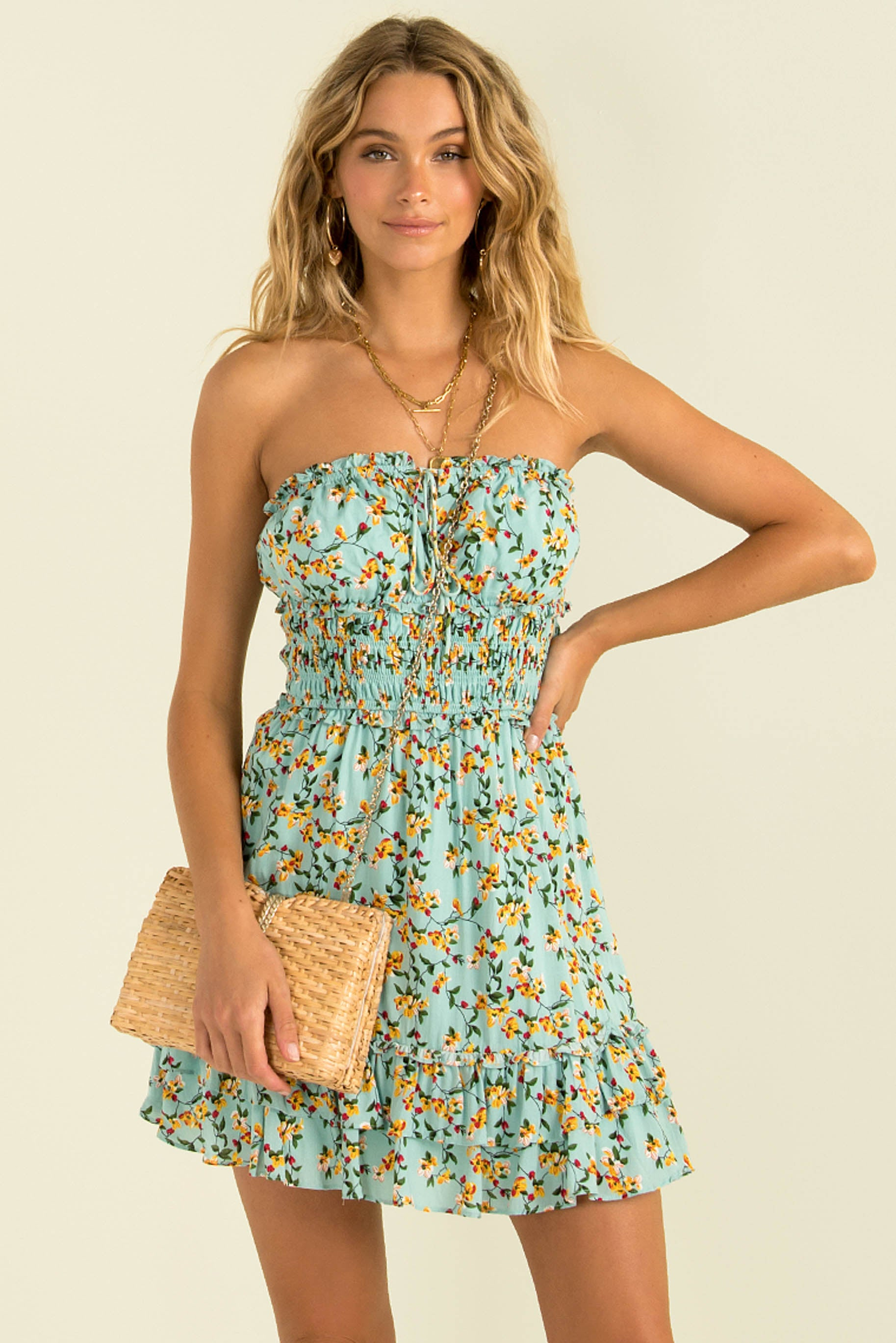 Lacey Dress / Aqua