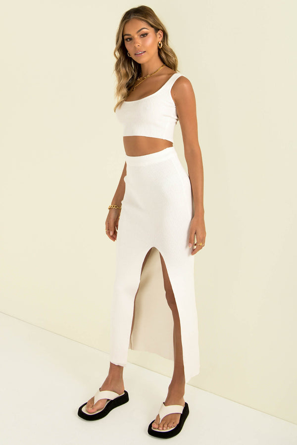 Abby Skirt / White