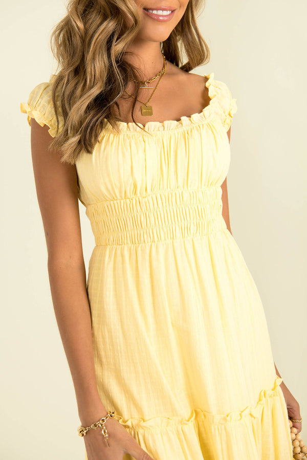 Daphne Dress / Yellow