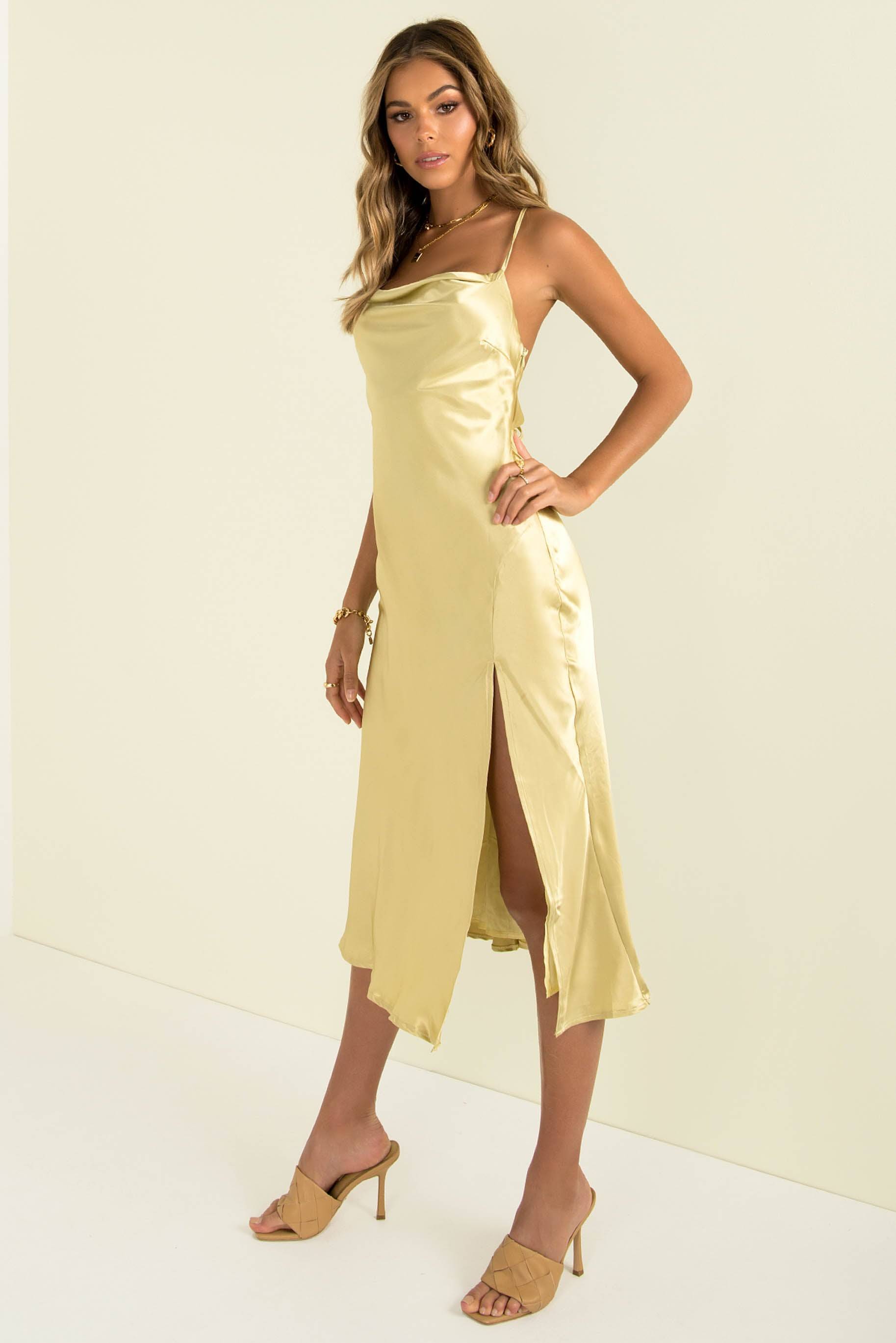 Portia Dress / Chartreuse