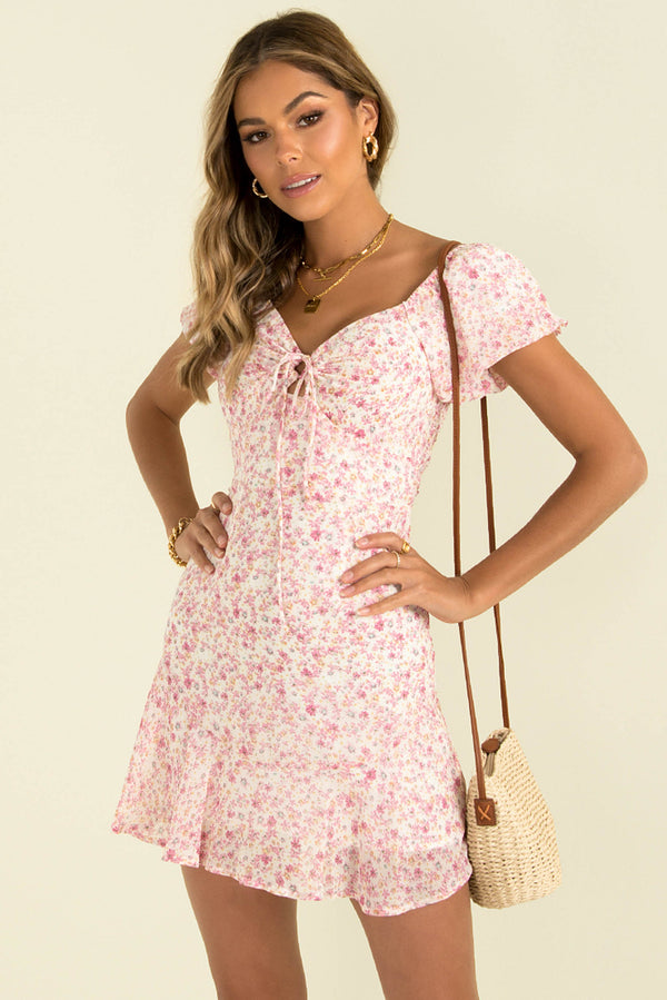 Alesha Dress / Pink Floral