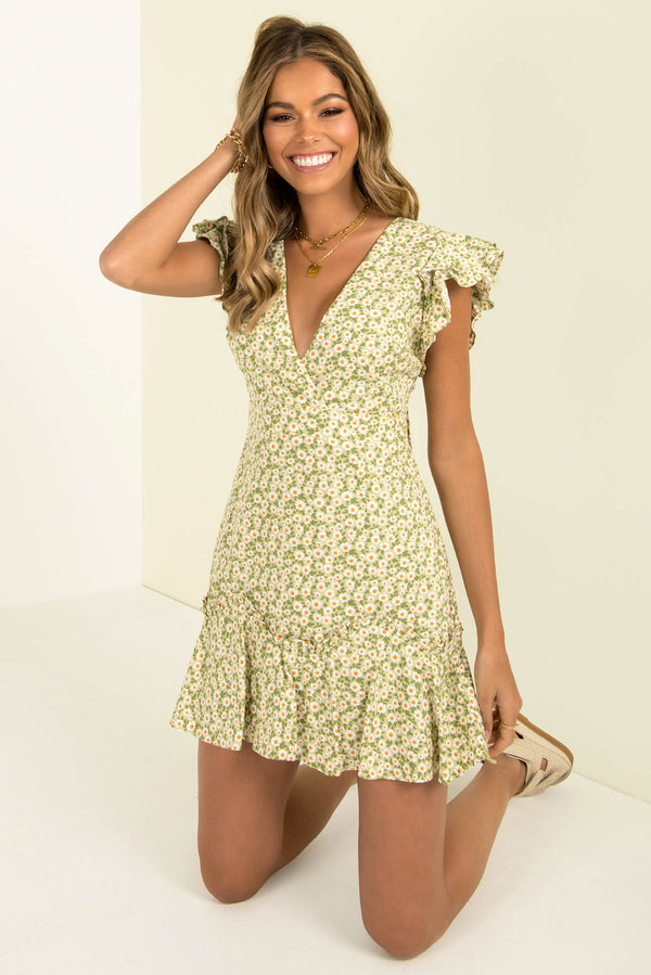 Gracie Dress / Lime