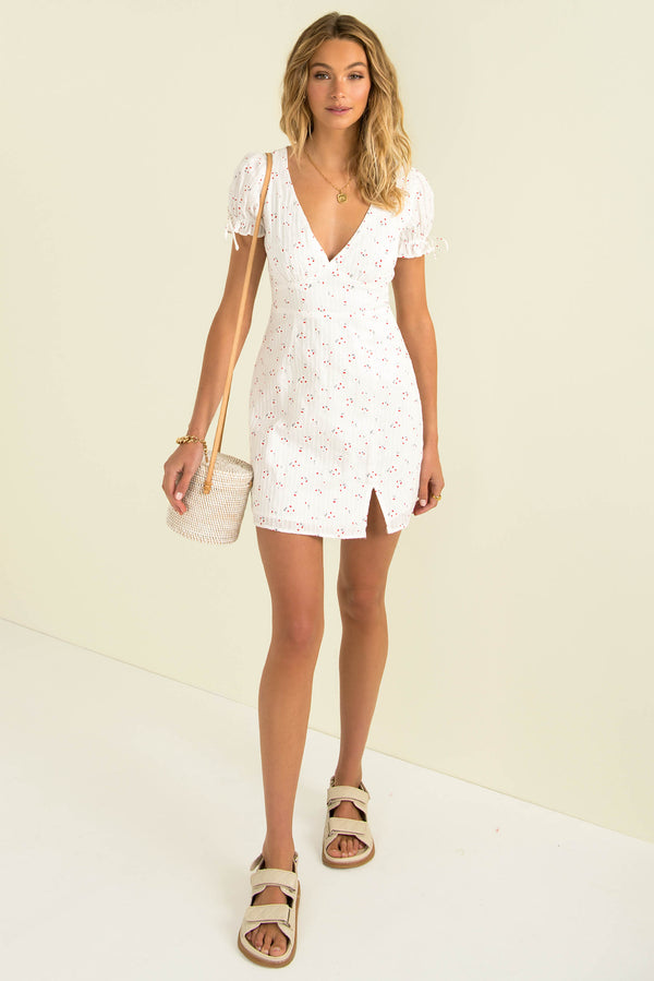 Annabel Dress / White Floral