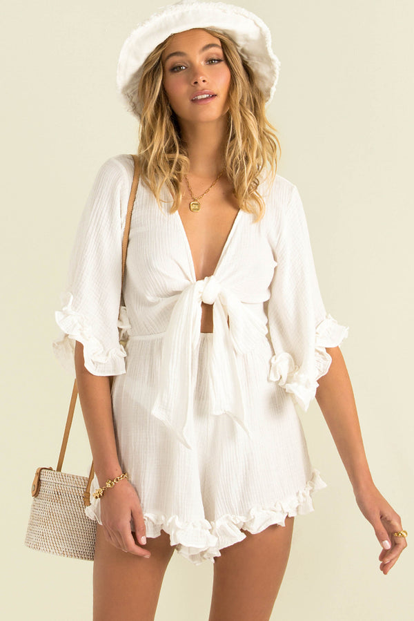 Alice Playsuit / White