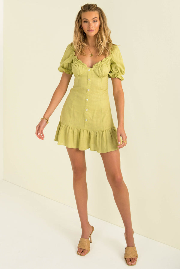 Noelle Dress / Lime