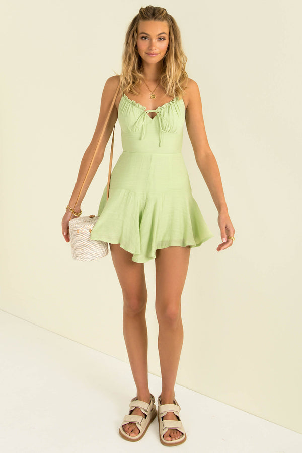 Lydia Playsuit / Lime
